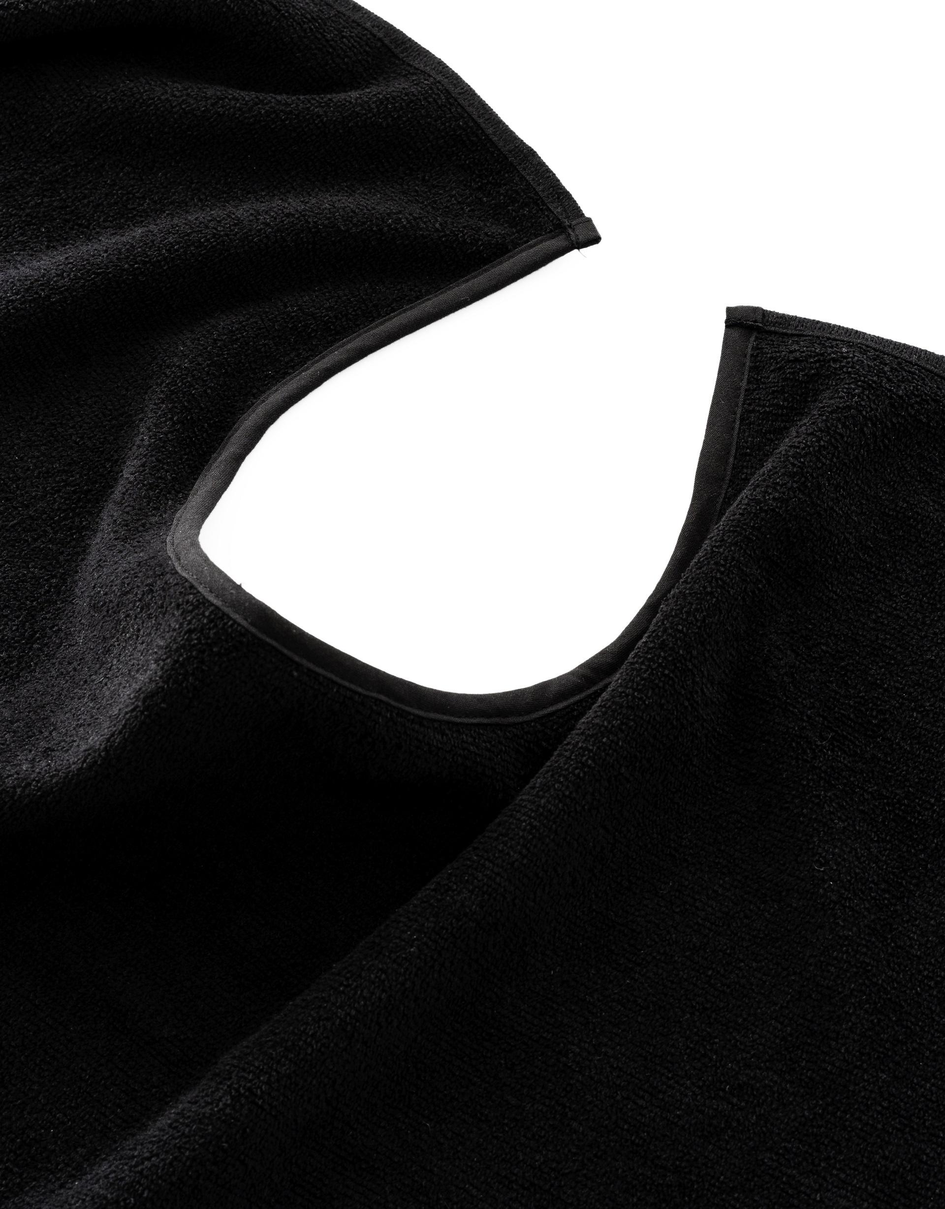 Serviettes Visage avec encolure noir