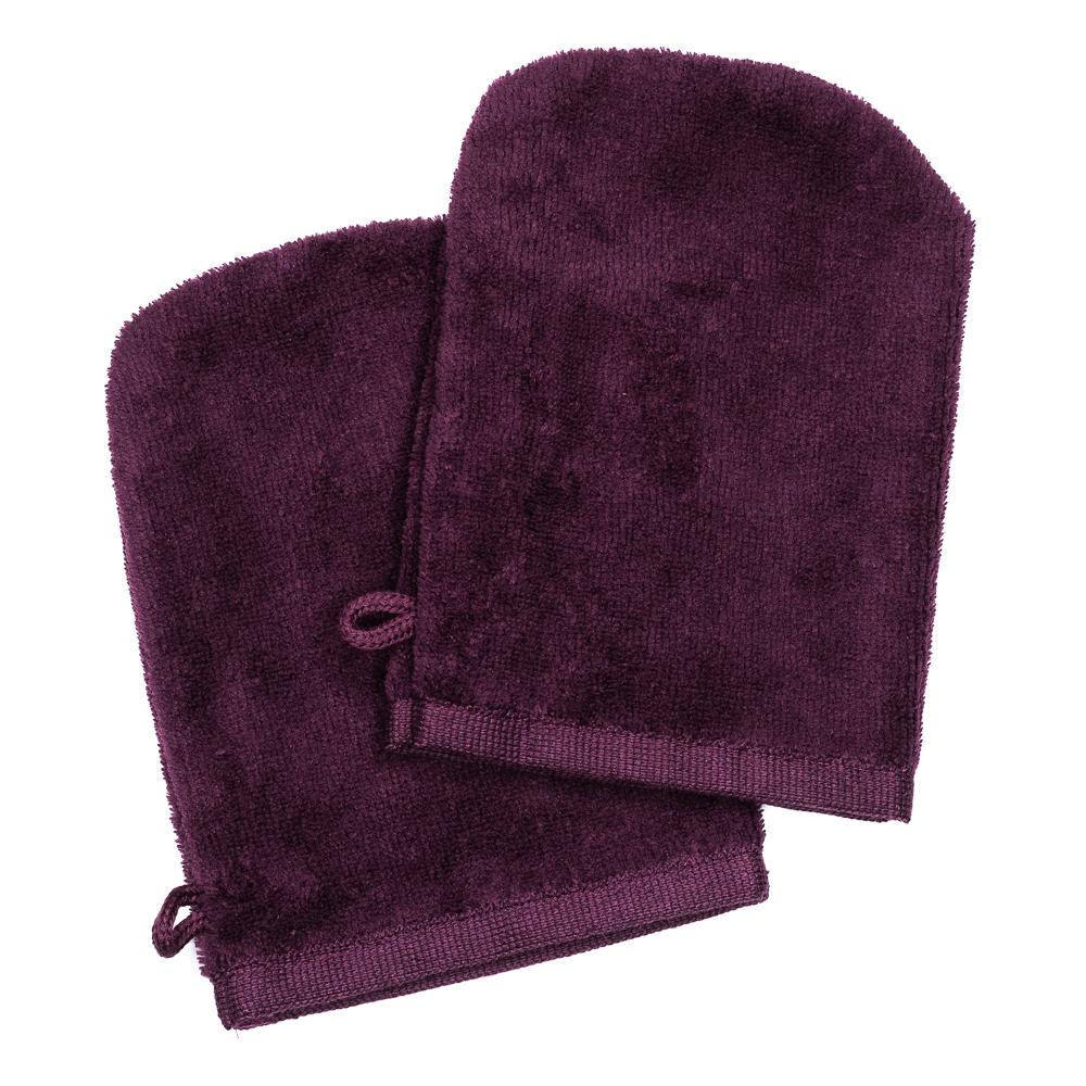 Gants de toilette lilas (paire)